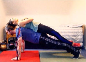 partner weighted banded press ups top portion