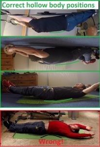 The hollow body position - Keep that posterior pelvic tilt during ab exercises