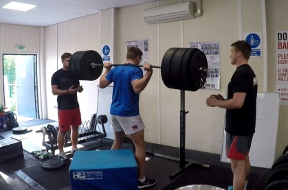 rugby box squat spotters