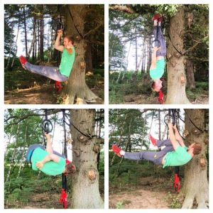 woodland workout pic stitch collage one